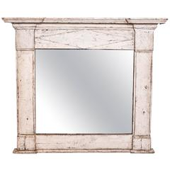 19th Century French Directoire Painted Mirror
