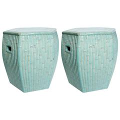 Mid-20th Century Chinese Pair of Garden Stools