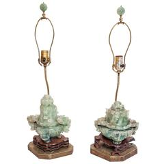 19th Century Chinese Pair of Madame Chiang Kai-Shek Quartz Lamps