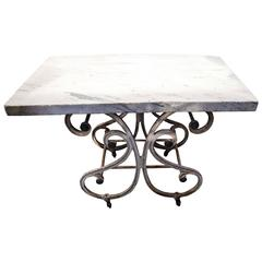 19th Century French Iron Baker's Table
