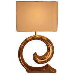 French Bronze Table Lamp by Pierre Cardin