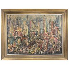 Abstract Skyline Painting by David T. Corson