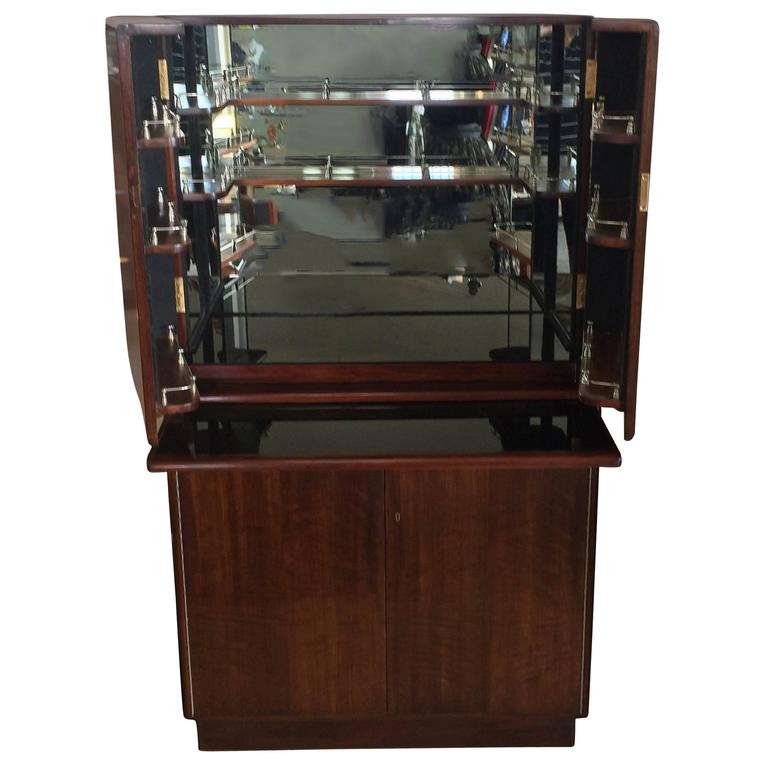 Art Deco Mahogany Cocktail And Bar Cabinet At 1stdibs