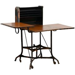 Early Industrial Rolling Desk by Toledo