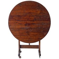 19th Century French Round Wine Tasting Table