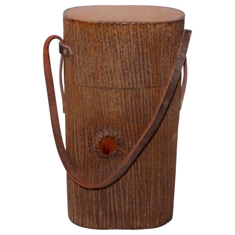 Monumental Cuban Bark Covered Cigar Shoulder Bag For Sale