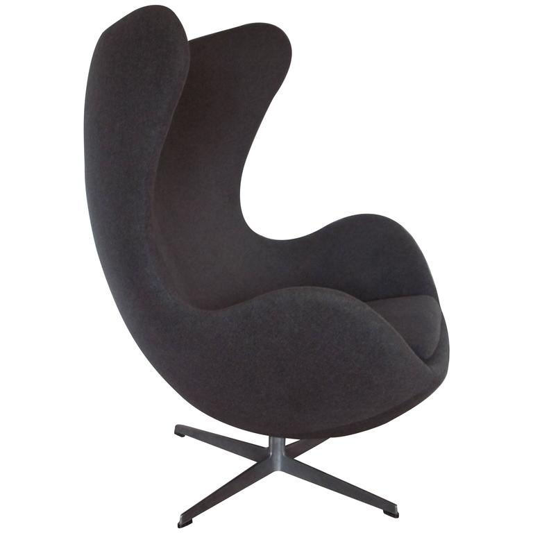 Original Vintage Arne Jacobsen Egg Chair For Fritz Hansen Denmark