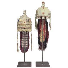 Pair of Ceremonial Wedding Headdresses