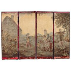 18th Century Continental Tapestry on Victorian Mounting