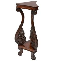 Well Carved and Unusual Rosewood Stand