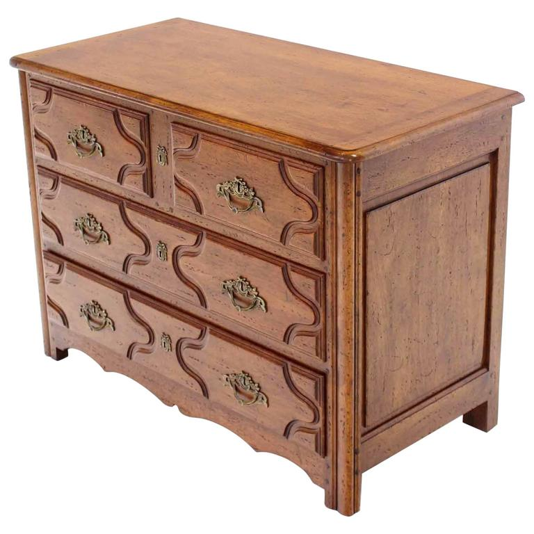 Solid wood gothic three drawer bachelor chest of drawers
