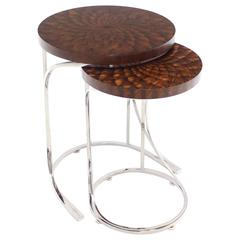 Set of Two Round Nesting Tables
