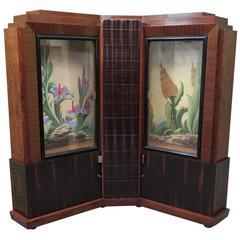 1940 Marcello Piacentini Italian Art Deco Corner Cupboards