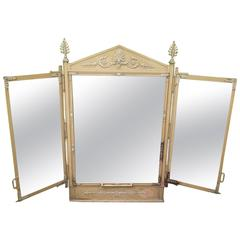 Old Hairdressing Mirror, Early 20th Century