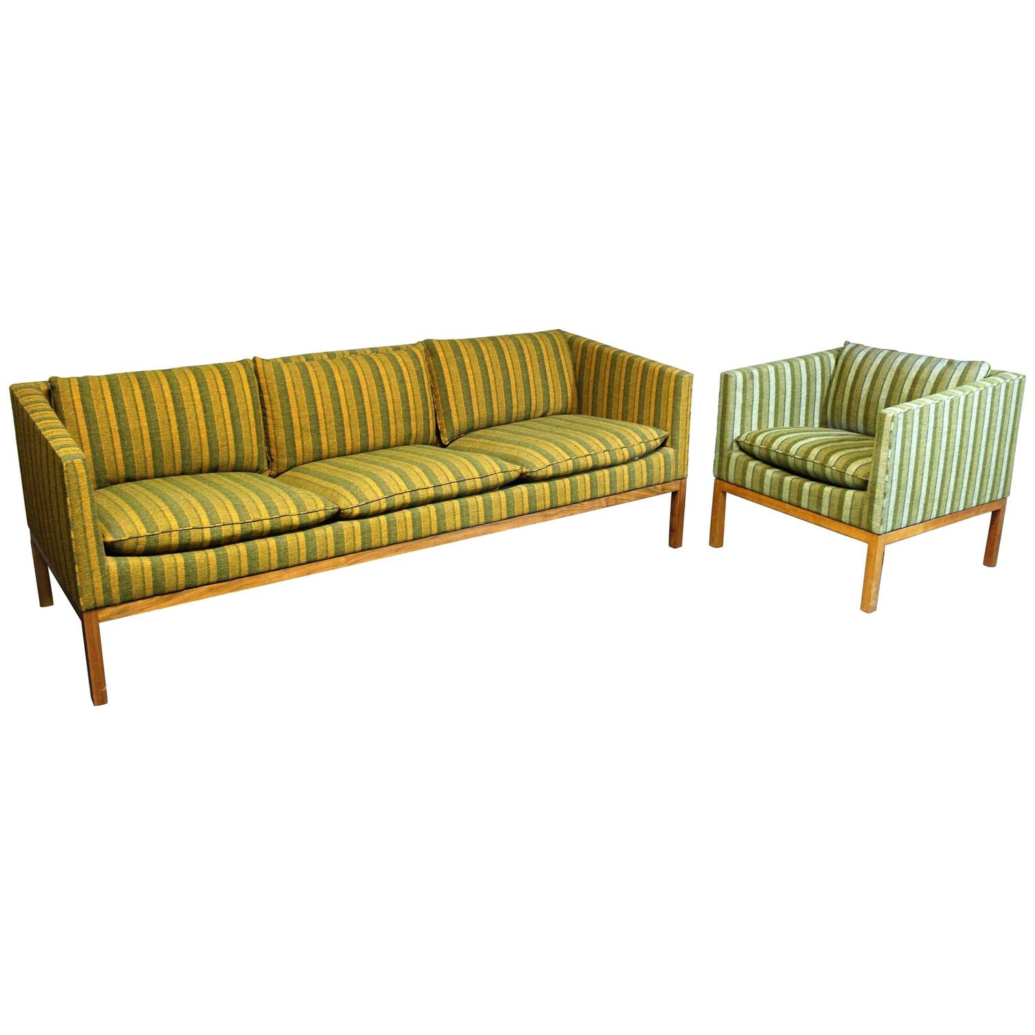 Leif Jacobsen Sofa and Chair Set at 1stdibs