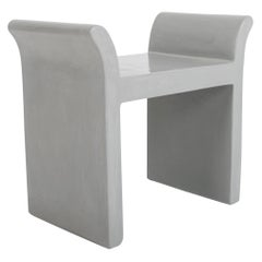 Vanity Seat in Grey Lacquer by Robert Kuo, Limited Edition