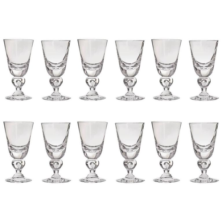 12 Exceptional Steuben Baluster Water Goblets 1