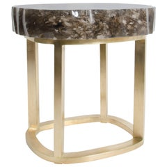 Glacier Brass Side Table by Robert Kuo, Limited Edition, Customizable