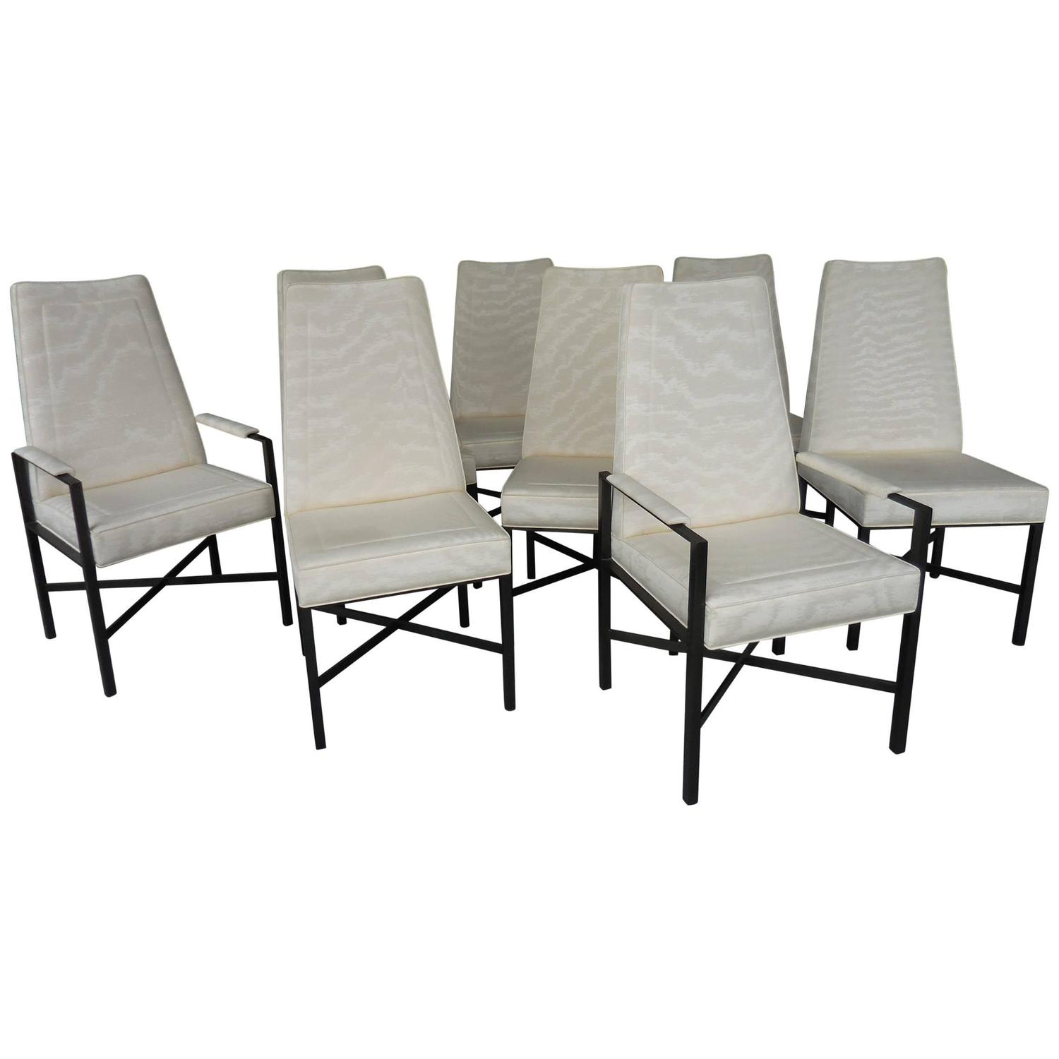 Oil Rubbed Bronze Chairs ~ Eight rare dining chairs by dunbar oil rubbed bronze