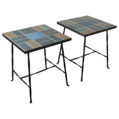 Pair of Solon & Schimmed Tile-Top Tables