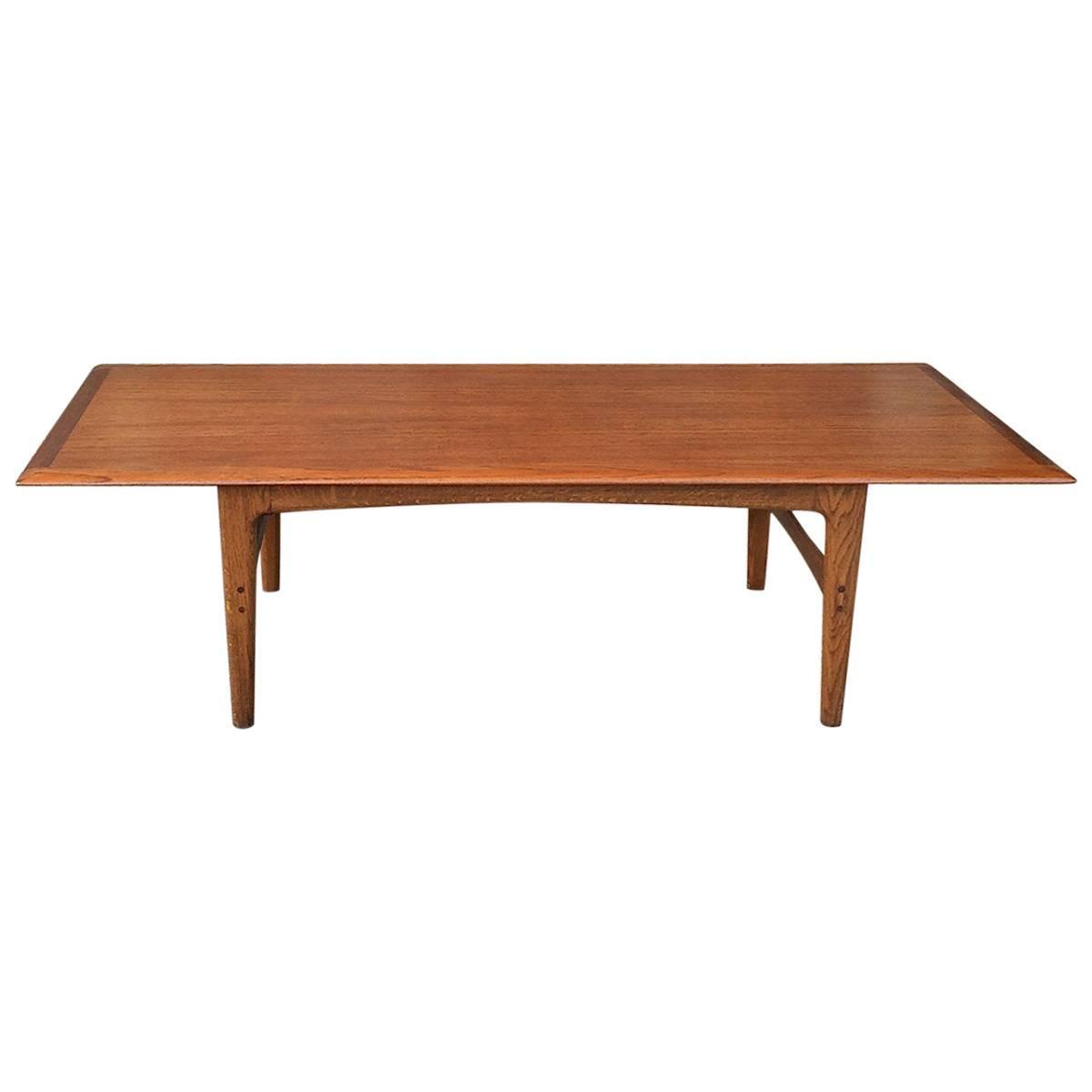 Danish modern hans wegner teak coffee table for sale at for Danish modern coffee table