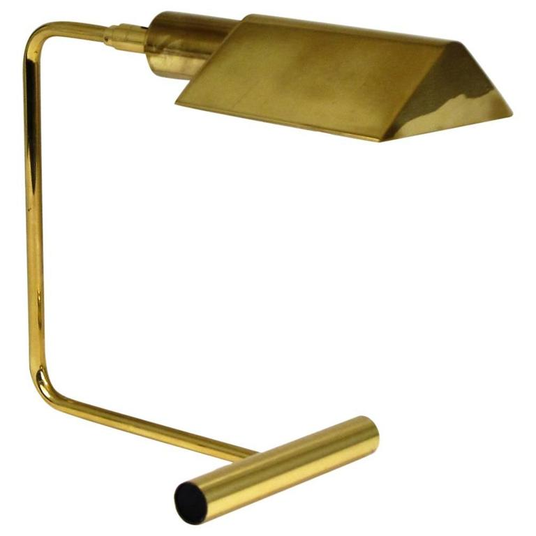 Koch And Lowy Cantilver Brass Desk Lamp At 1stdibs