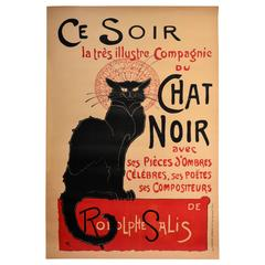 Original 1896 Chat Noir Poster by Steinlen for the Black Cat French Cabaret