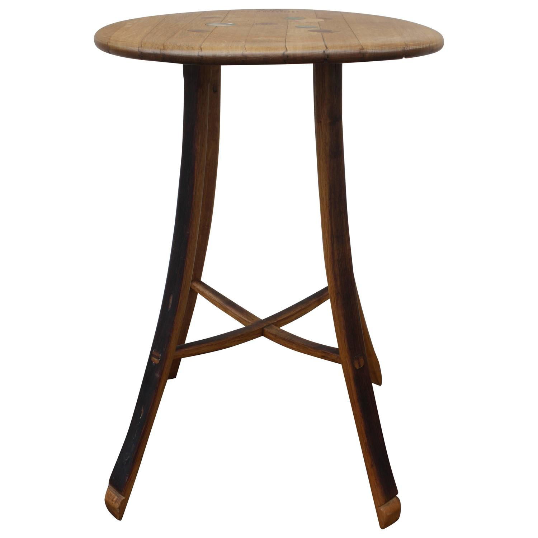 Custom wine barrel table for sale at 1stdibs for 1 2 wine barrel table