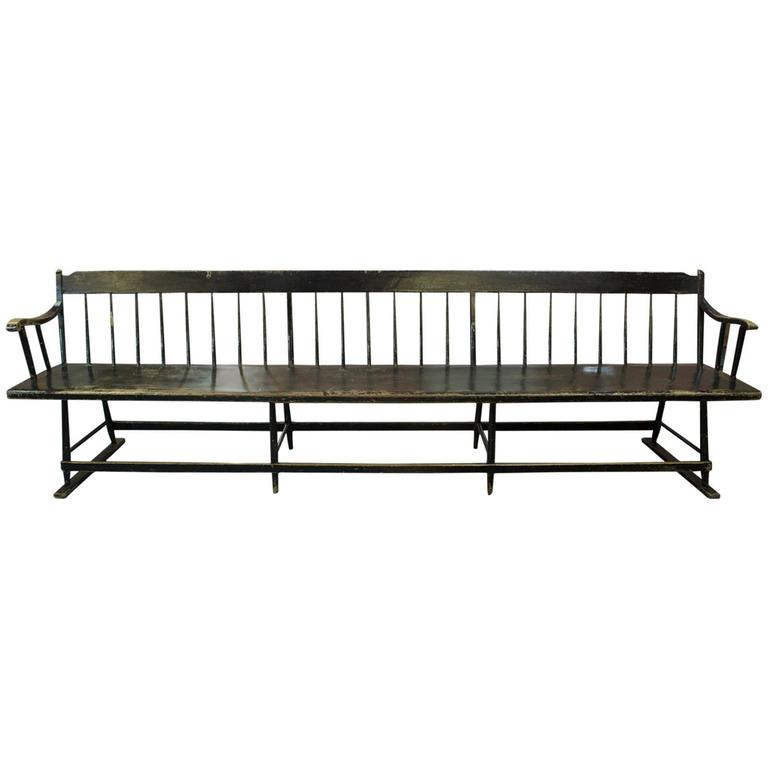 Early 19th Century Deacon 39 S Bench For Sale At 1stdibs