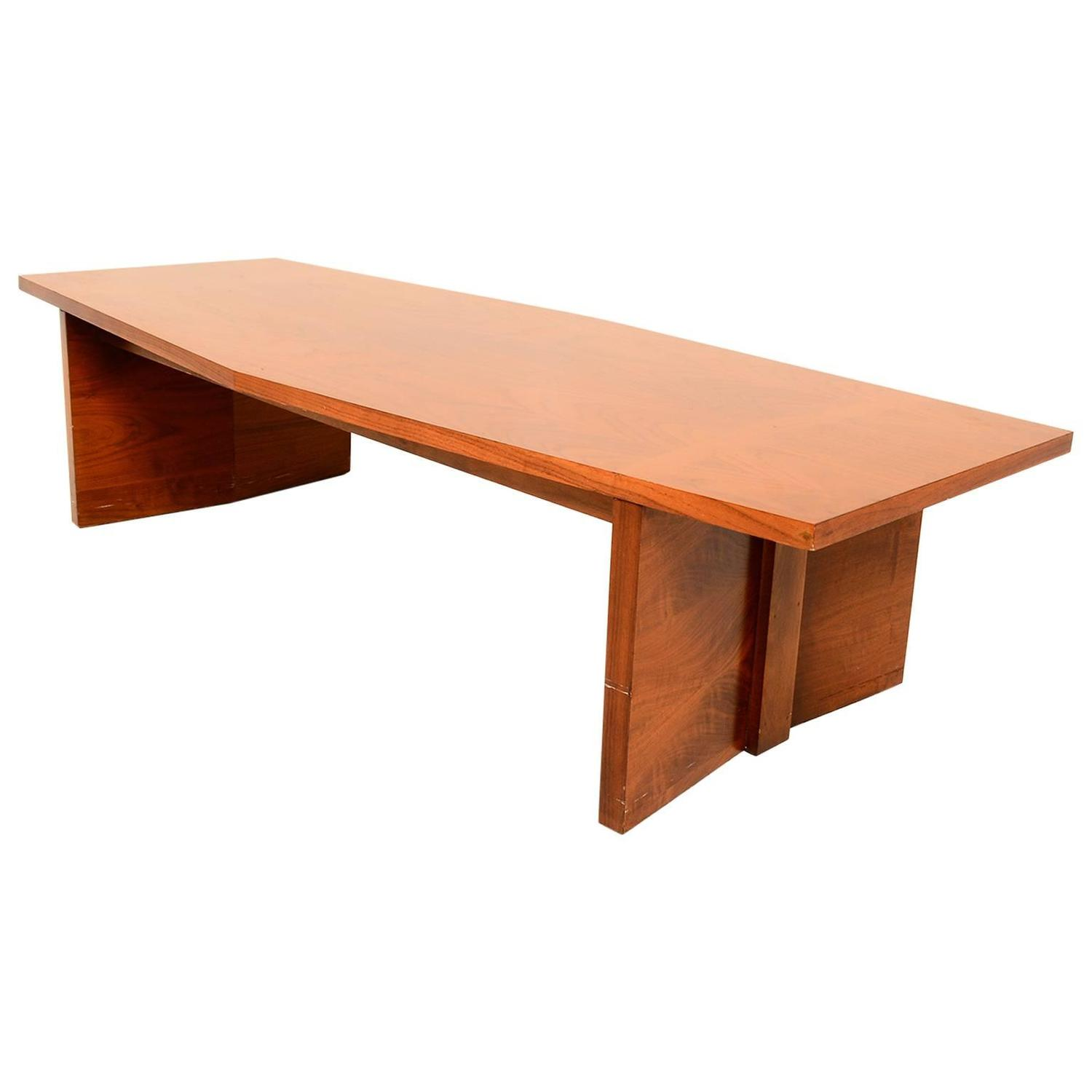 Lane Blonde Coffee Table: Rare Mid-Century Modern Lane Coffee Table For Sale At 1stdibs
