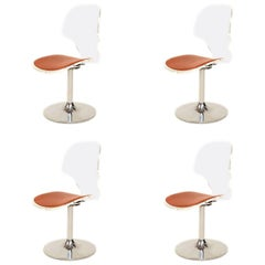 Mid Century Modern Four Lucite Dining Chairs