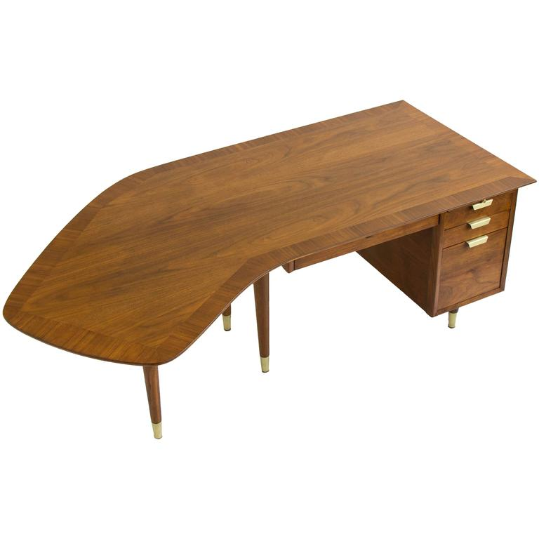 Walnut Executive Desk By William H Sullivan For Standard