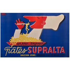 Mid-Century Modern Period Pates Supralta Advertising Poster by Pierre Lacroix