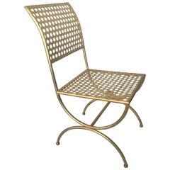 Tony Duquette Gilt Iron Palmer Chair
