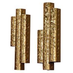 PILZ Sconce - Hand-Hammered Polished Bronze