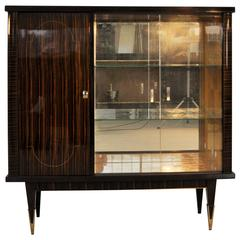 Wonderful Art Deco Macassar-Vitrine