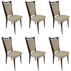 Set of Original Art Deco Chairs made of Walnut