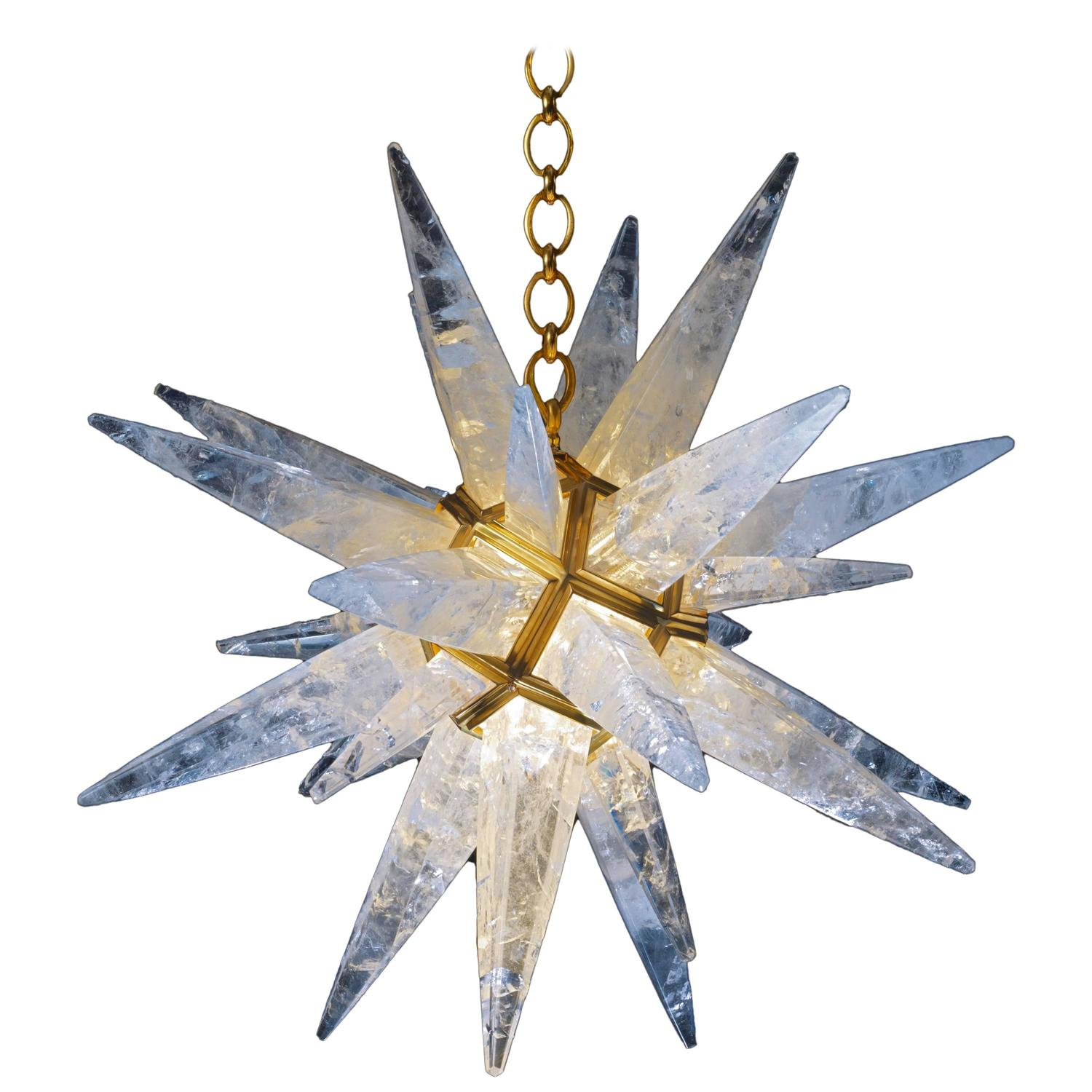Rock Crystal Star Chandelier by Alexandre Vossion For Sale at 1stdibs – Star Chandeliers