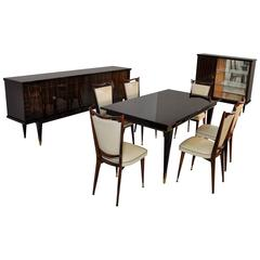 Art Deco Living Room Set made of Macassar Wood