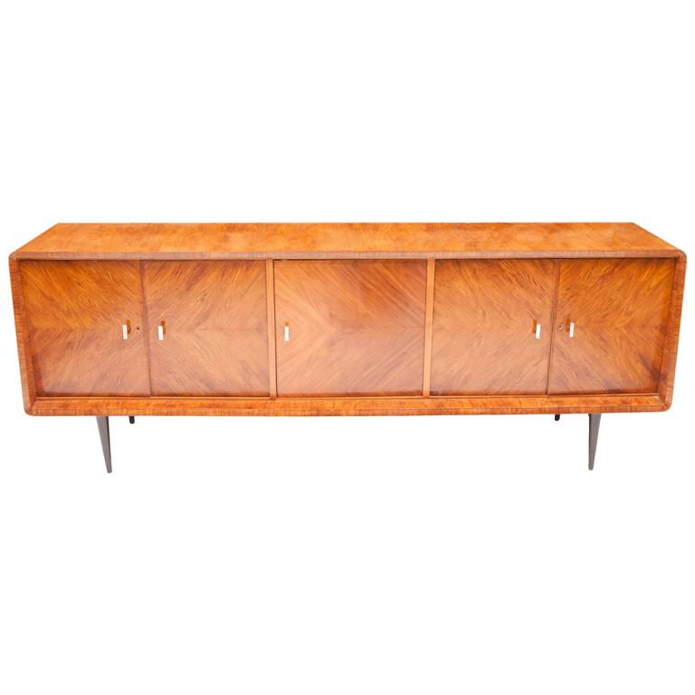 Mid century credenza sideboard in caviuna wood by ernesto hauner brazil 1955 for sale at 1stdibs - Brazilian mid century modern furniture ...