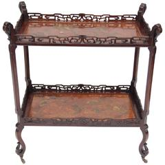 Napoleon III Chinoiserie Lacquer Side Table