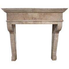 18th Century French Mantel from a Brittany Style Farmhouse