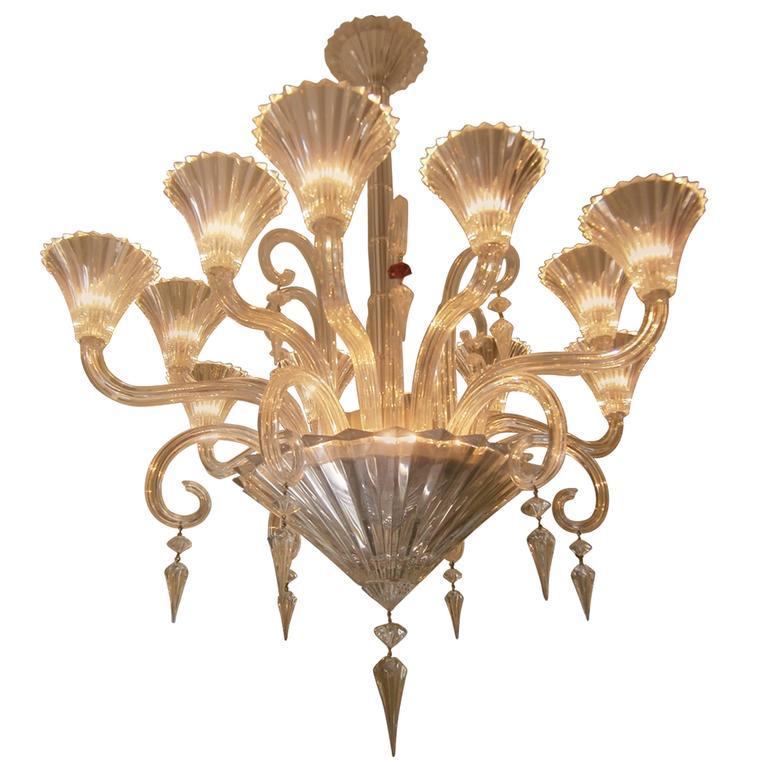 Twelve Light Baccarat Mille Nuits Chandelier For Sale At