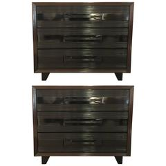 Pair of American 1940s Gentlemen's Chest of Drawers