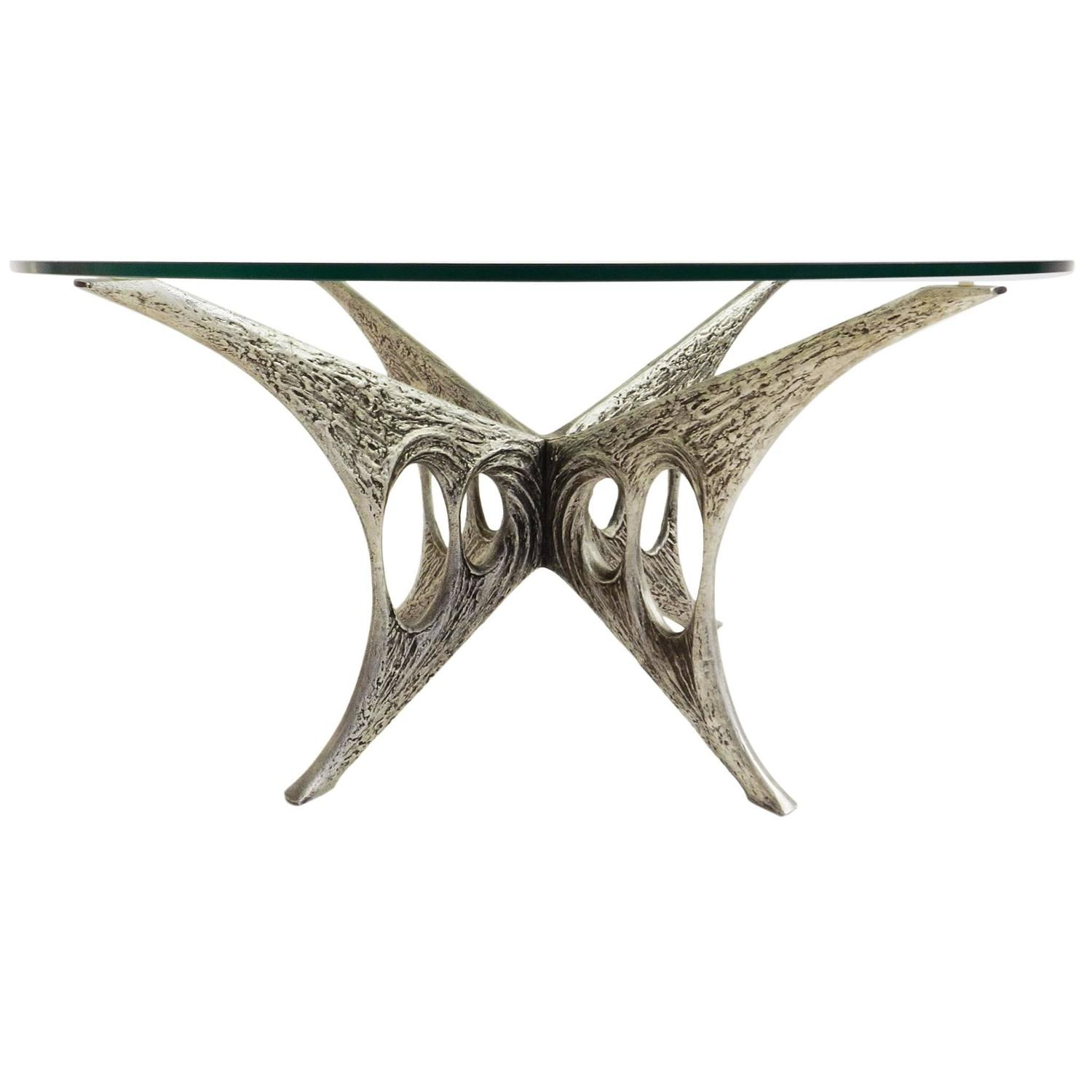 Brutalist Sculptural Coffee Table by Willy Ceysens at 1stdibs