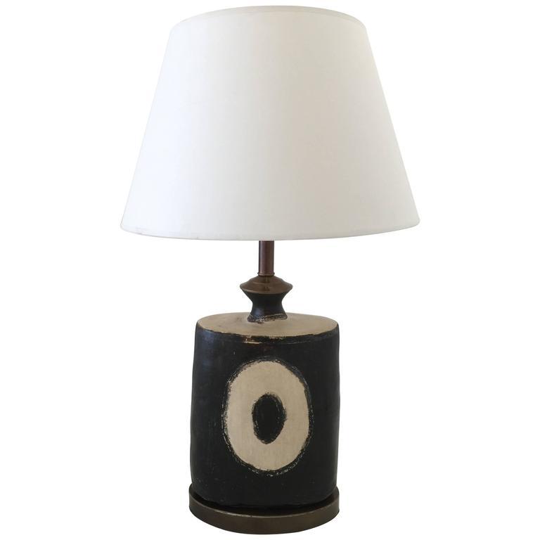 Guatemalan handmade earthenware table lamp for sale at 1stdibs - Handmade table lamp ...