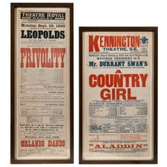 Two English Theatre Advertising Posters, circa 1900