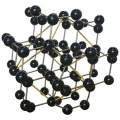 Vintage Ball and Stick Molecular Model of Diamond