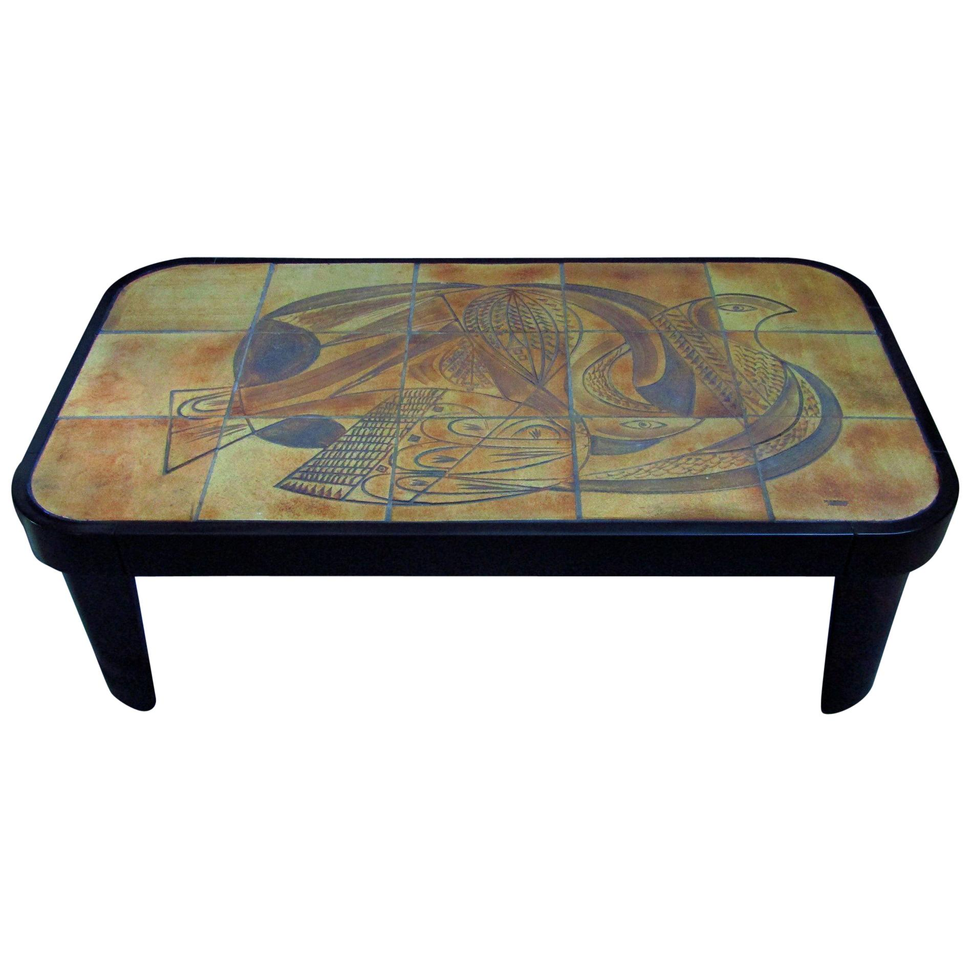 Midcentury Vallauris Tiles Cubist Coffee Table