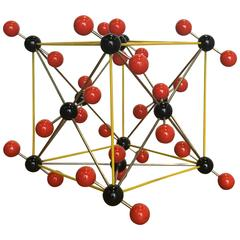 Vintage Ball and Stick Molecular Model of Carbon Dioxide